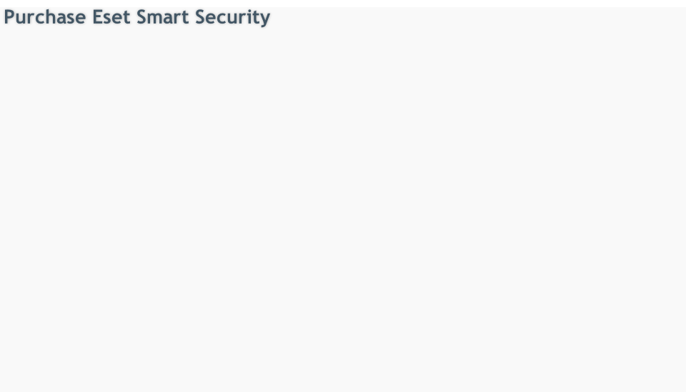 Purchase Eset Smart Security